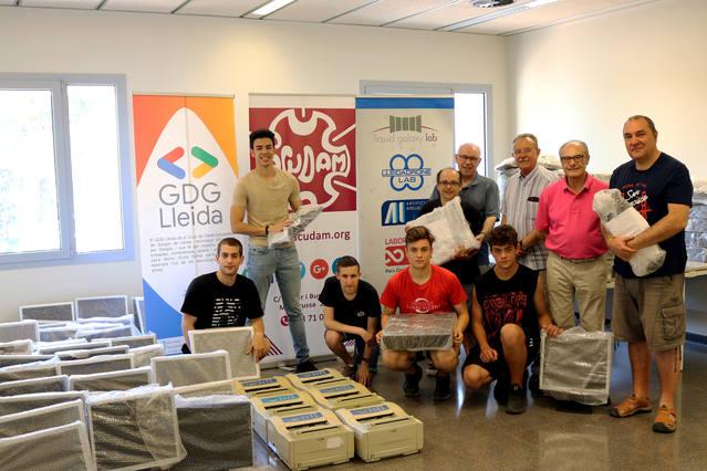 El Banc de Recursos de Lleida dóna 10 ordinadors a l'ACUDAM