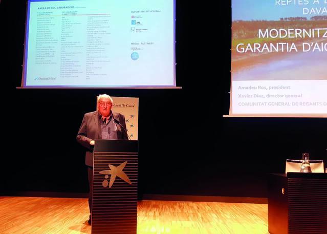 El Canal d'Urgell presenta el seu pla de modernització al IV Congrés de l'Aigua