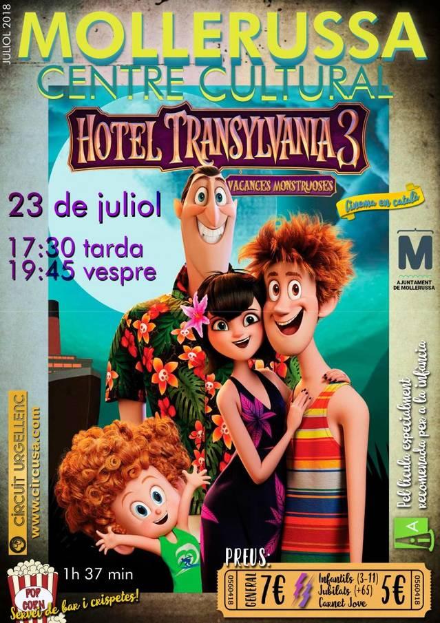 El Centre Cultural acull dilluns 23 la projecció en català de la pel·lícula 'Hotel Transylvania 3'