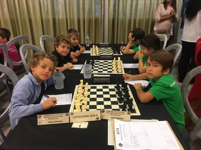 El club d'Escacs Mollerussa, 4t classificat del Campionat de Catalunya d'equips d'edats