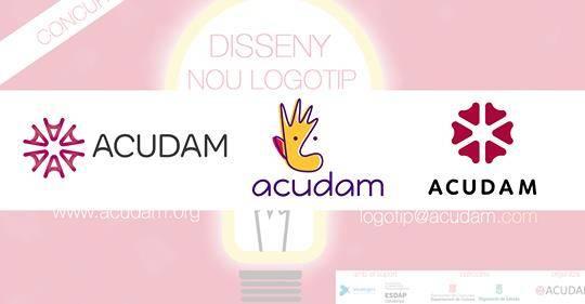 El concurs de logotips d'Acudam ja té 3 finalistes