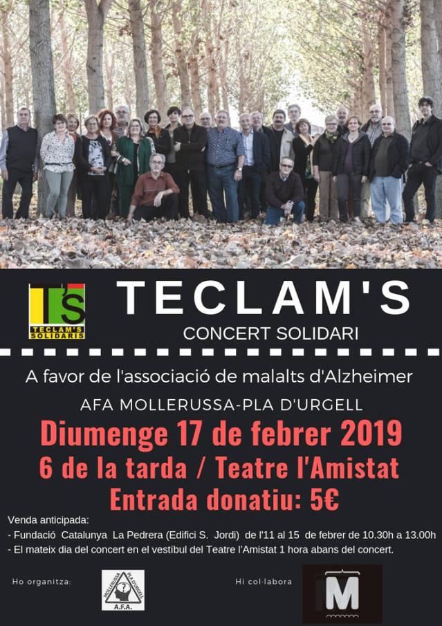 El grup TECLAM'S farà un concert solidari a favor de l'Associació de Familiars i Malalts d'Alzheimer
