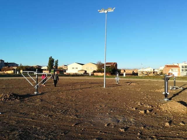 El Palau d'Anglesola instal·la aparells per fomentar  la pràctica de la gimnàstica
