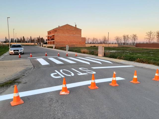 El Palau d'Anglesola instal·la vuit ressalts en diferents carrers del municipi