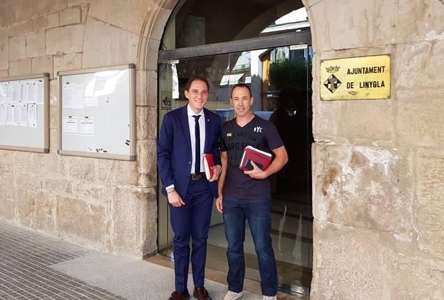 El subdelegat del Govern a Lleida, José Crespín, es reuneix amb els alcaldes de Linyola i El Poal