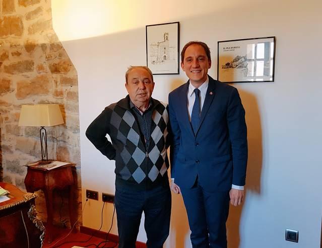 El subdelegat del Govern es reuneix amb l'alcalde de Barbens i l'alcaldessa de Sidamon