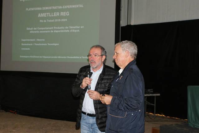 Joan Reñé aquest dimecres presidint un acte a Maials