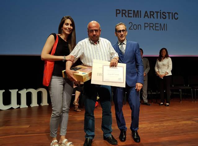 """L'artista d'ACUDAM, Josep Mª Teixidó, guanya el 2n premi del concurs """"El Balcó de les Arts"""""""
