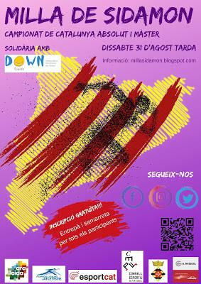 La 5a Milla Urbana de Sidamon serà el Campionat de Catalunya Absolut i Màster