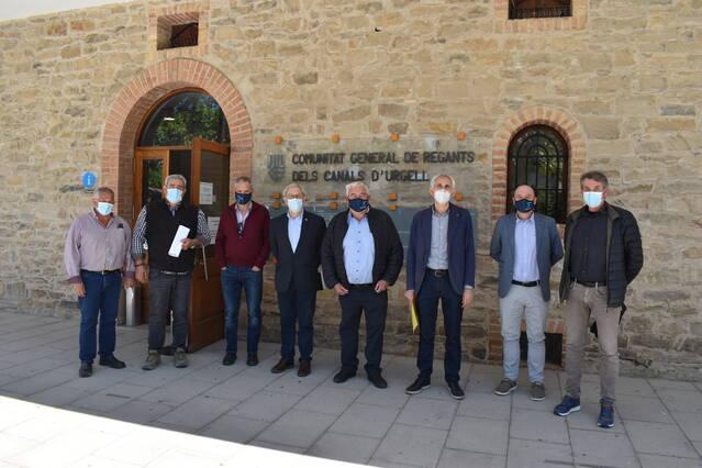 La Comunitat de Regants dels Canals d'Urgell signa un conveni amb l'IRTA en el marc del seu projecte de modernització i de recuperació mediambiental