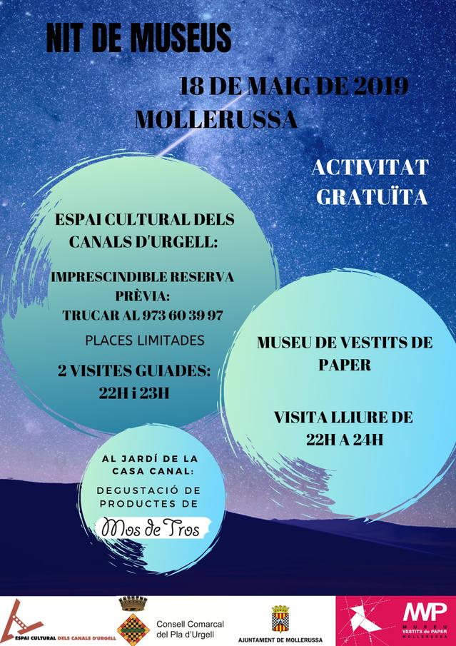 La Nit dels Museus arriba aquest cap de setmana a Mollerussa