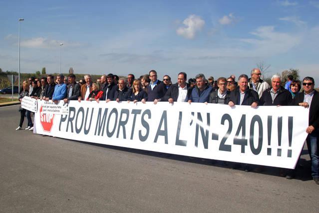 La Plataforma Prou Morts a l'N-240 plantejarà accions