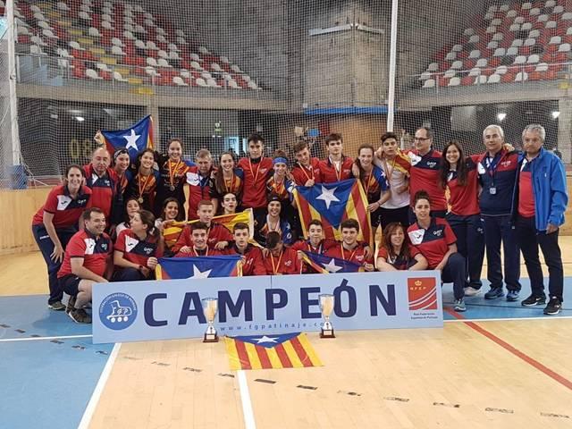 La Selecció catalana femenia d'hoquei patins sub-18 es proclama campiona d'Espanya