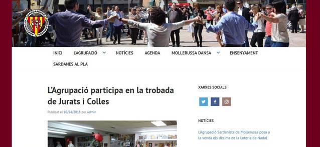 L'Agrupació Sardanista de Mollerussa estrena pàgina web