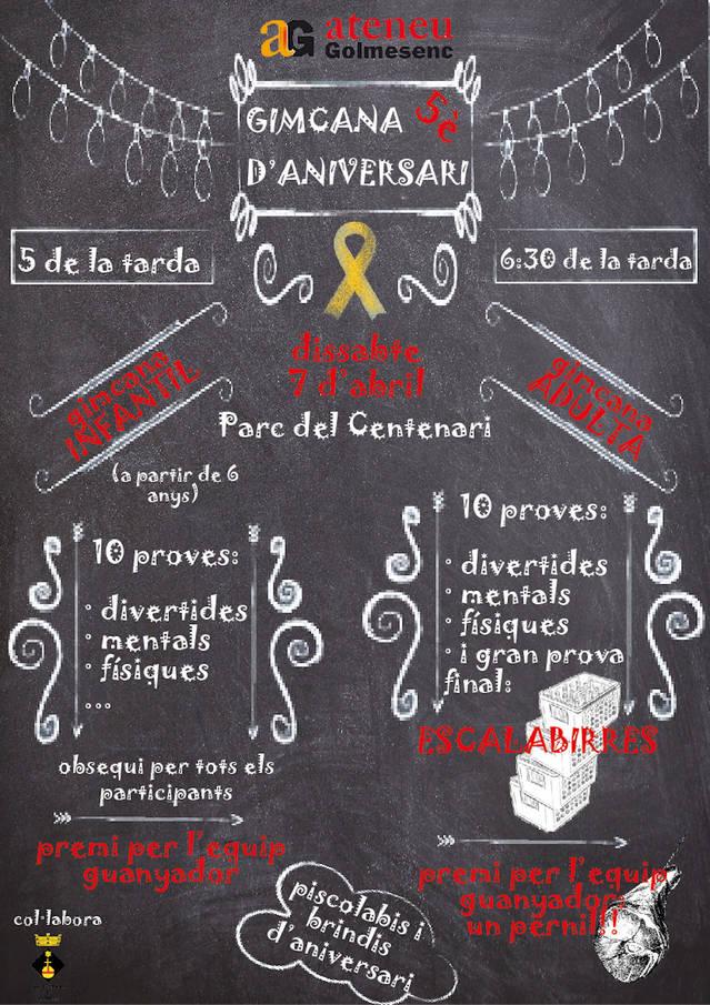 L'Ateneu Golmesenc celebra aquest dissabte el seu 5è aniversari amb dues gimcanes