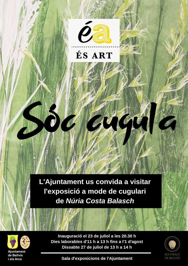 """L'Ajuntament de Bellvís acollirà la mostra """"Sóc cugula"""" de Núria Costa Balasch"""