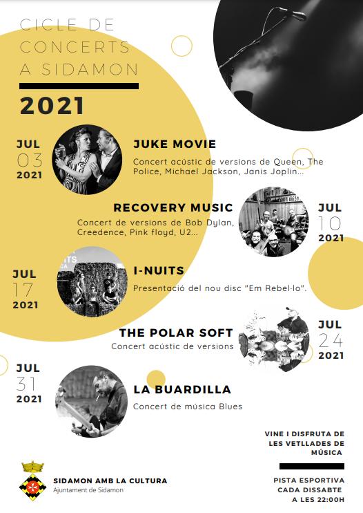 L'Ajuntament de Sidamon impulsa el Cicle de Concerts 2021