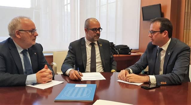L'alcalde de Mollerussa es reuneix amb el conseller d'Interior per parlar sobre la construcció de l'Àrea Bàsica Policial