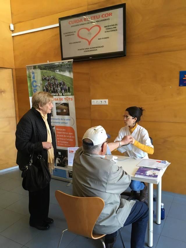 L'Equip d'Atenció Primària del Pla d'Urgell ofereix controls de tensió arterial i consells per prevenir el risc cardiovascular
