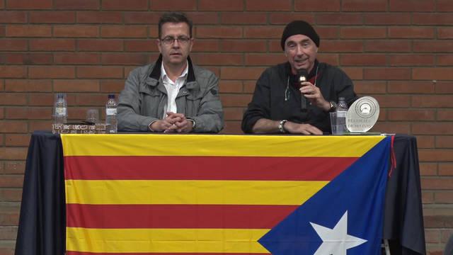 """Lluís Llach inaugura la festa """"fes+poble"""" de Bellvís amb una xerrada sobre el Procés"""