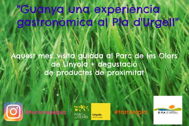 L'Oficina de Turisme del Pla d'Urgell dedica el Tasta el Pla de maig al Parc de les Olors de Linyola