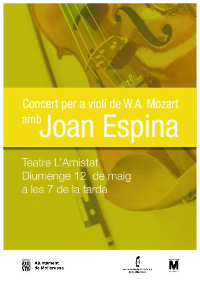 L'Orquestra de Cambra Catalana aterra el dia 12 al Teatre L'Amistat amb Joan Espina com a solista al violí