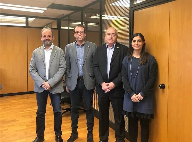 Marc Solsona es reuneix amb el conseller d'Ensenyament per abordar la planificació educativa a Mollerussa pel curs vinent