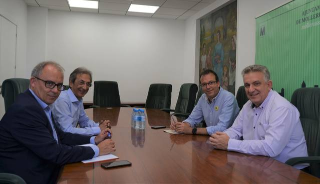 L'alcalde de Mollerussa, Marc Solsona, s'ha reunit amb el nou president de la Cambra de Comerç