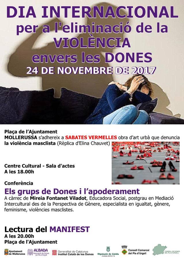 Mollerussa denuncia la violència de gènere amb l'obra d'art 'Sabates vermelles' en homenatge a les víctimes