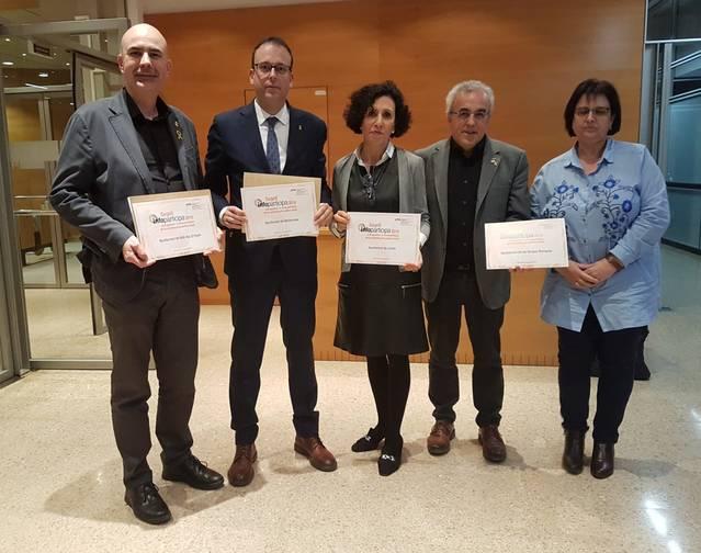 Mollerussa i Bell-lloc d'Urgell distingides amb el  Segell InfoParticipa 2018