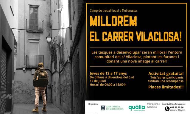 Mollerussa impulsa un camp de treball per millorar el carrer de la Vilaclosa