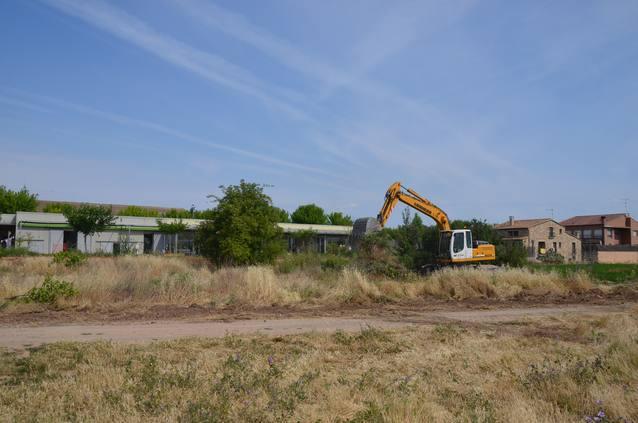 Mollerussa inicia els treballs de neteja dels terrenys  i de construcció de la fonamentació del nou institut