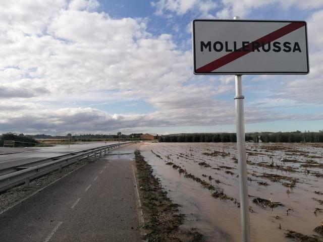 Mollerussa recupera els accessos tallats pels aiguats des de la carretera de Torregrossa i la de Miralcamp