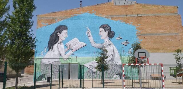 Mural al parc de les Monges de Bellvís