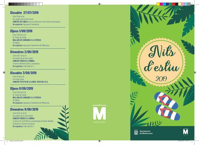 Música, teatre, cinema, esports i natura, entre la trentena d'activitats de les Nits d'Estiu a Mollerussa