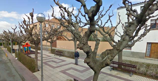 Obres a la plaça 1 d'octubre de 2017 del Palau d'Anglesola