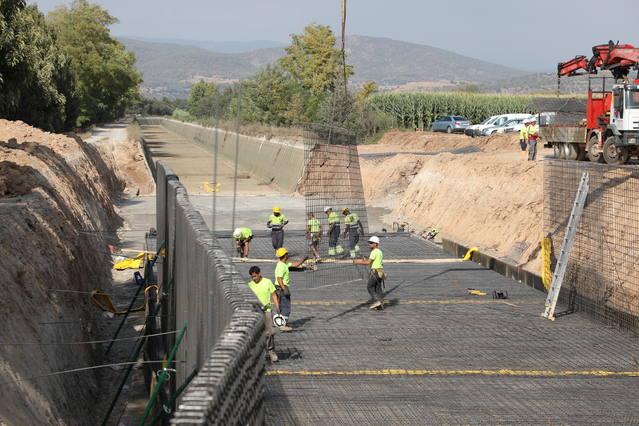 Obres al Canal d'Urgell per refer 650 metres del Principal per filtracions
