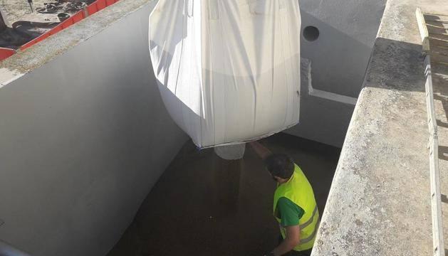 Obres per millorar la planta potabilitzadora a Bellvís