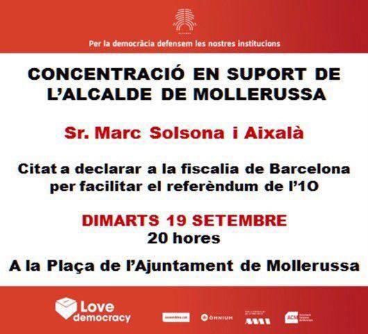 Pobles del Pla d'Urgell convoquen actes de suport als seus alcaldes i alcaldesses