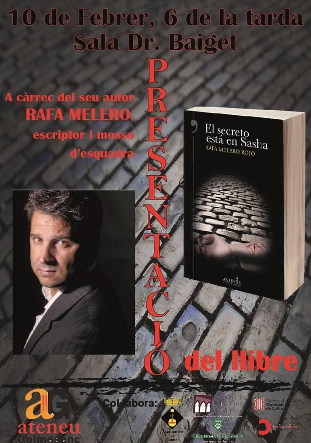 Presentació del llibre 'El secreto está en Sasha' de Rafa Melero a l'Ateneu Golmesc