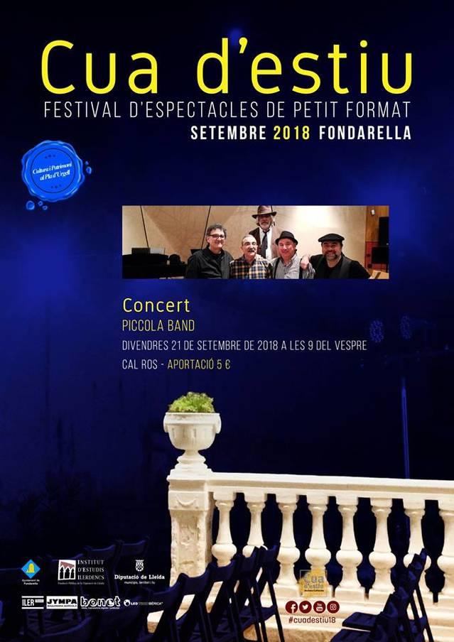 Una combinació de blues i jazz i el teatre lleidatà de Cametes Teatre, aquest cap de setmana al Festival Cua d'Estiu de Fondarella
