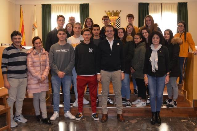 Una quinzena d'estudiants italians coneixen Mollerussa i la cultura catalana gràcies a un intercanvi amb La Salle