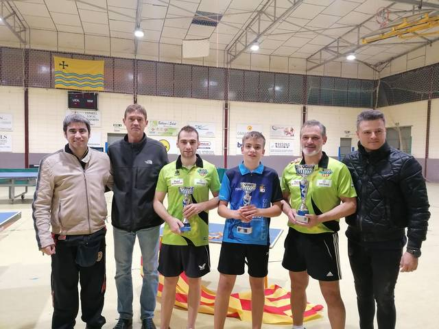 Xavi Fontanet, del CTT Mollerussa, guanya el 2n Open Absolut de tennis taula