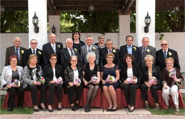 9 matrimonis de Tàrrega celebren les Noces d'Or