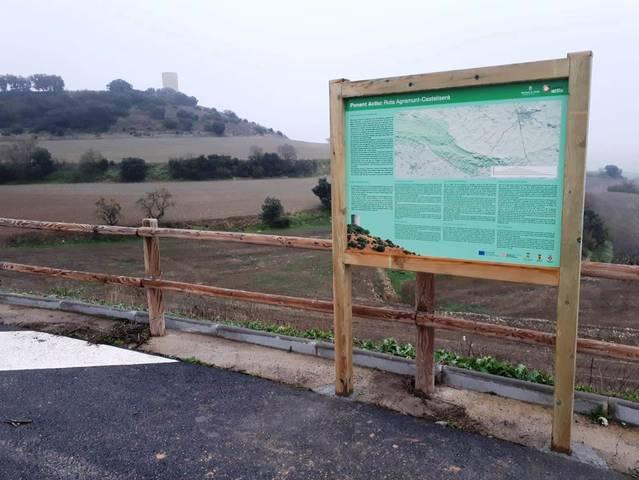 Agramunt senyalitza la ruta de la Serra d'Almenara