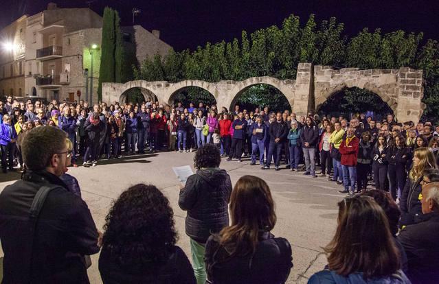 Anglesola se solidaritza amb un veí detingut a les protestes per la sentència