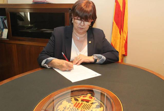 Arxivada la causa contra l'alcaldessa de Tàrrega pel seu suport al referèndum de l'1-O