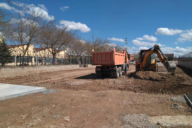 Avancen a bon ritme les obres de construcció de l'àrea de servei de Tàrrega destinada a autocaravanes