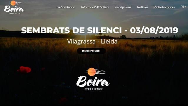 Boira Experienca organitza una caminada nocturna en silenci pels Secans de Vilagrassa i Anglesola