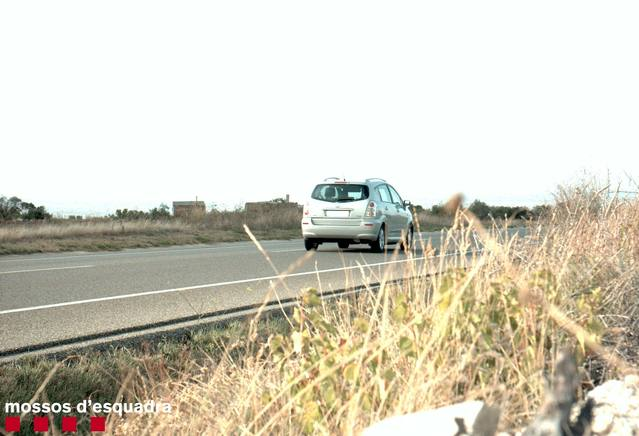 Caçat un conductor circulant a 192 km/h per la C-14 a Ciutadilla